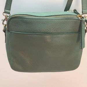 Fossil aqua crossbody leather bag (C.2)